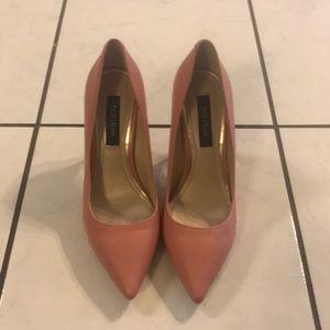 White House Black Market Pink Heels, Size 7